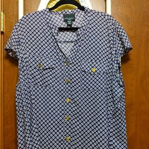 Lovely Graphic Print Blouse-Size 2X